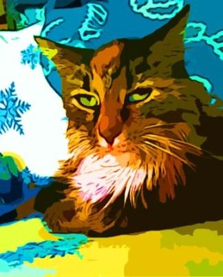 Calico Maine Coon Cat art