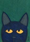 Black feral cat drawing