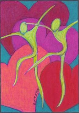 Dancing Spirits and Hearts drawing by BZTAT