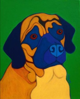 puggle pug mix dog custom pet portrait by BZTAT