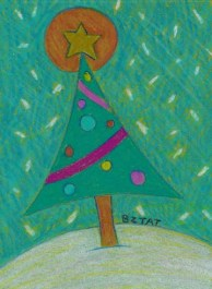 Christmas tree drawing by BZTAT