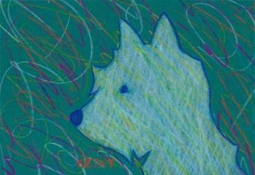 Westie dog drawing by BZTAT