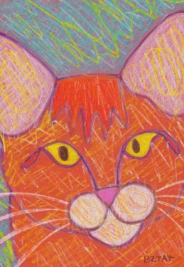 Orange tabby cat drawing BZTAT