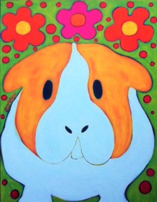 Guinea Pig Painting by BZTAT