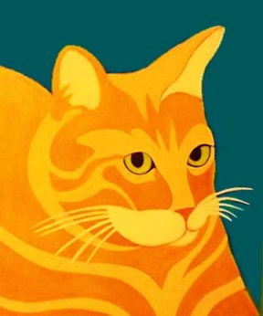 Yellow Tabby Cat Custom Pet Portrait painting by BZTAT