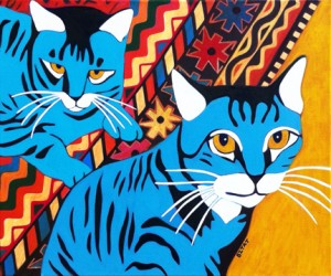 Custom Pet Portrait Paintings of Dogs, Cats and Other Companion Animals by BZTAT