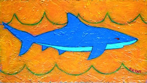 Shark painting by BZTAT