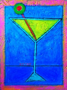 Martini Glass Painting by BZTAT