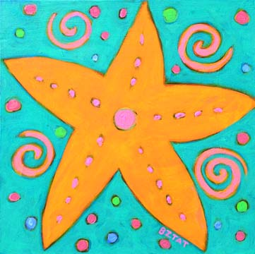 Starfish painting by BZTAT