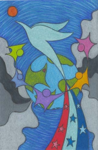 Prayer for 911 drawing by BZTAT