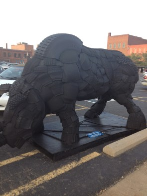 Rhinoceros Sculpture Canton  Arts District