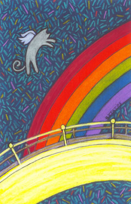 Rainbow Bridge Drawing by Animal Artist BZTAT