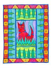 Colorful Cats Coloring Book featuring Art by BZTAT