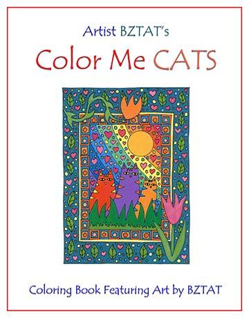 Artist BZTAT's color Me Cats Coloring Book