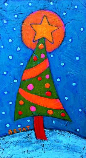 """Christmas Tree in Snow"""