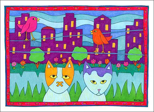 Just Meowin' Cat Coloring Book for Adults