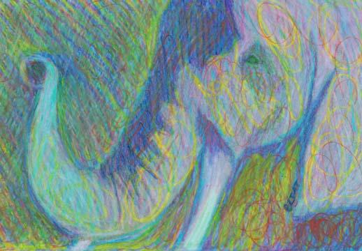 """Elephant Elegance"" Drawing by BZTAT"