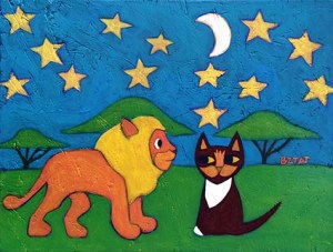 Purchase paintings of Mia Meow - Children's Book Character paintings by Artist BZTAT