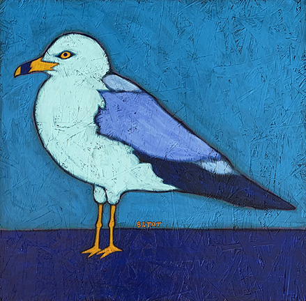 Sea Gull urban wildlife painting contemporary pop art BZTAT