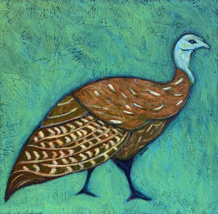 Wild Turkey urban wildlife painting contemporary pop art BZTAT