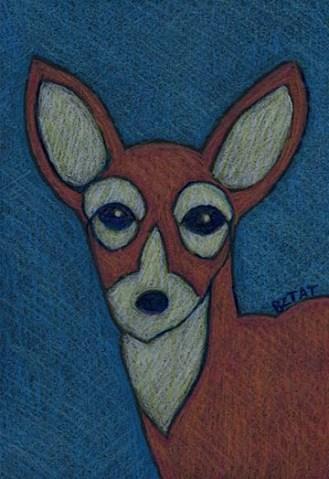 Whitetail Deer urban wildlife drawing by BZTAT