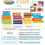 KIDS summer CAMP 6/23  to 8/03
