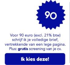 Je motivatiebrief schrijven doe ik voor 90 euro