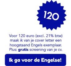 Ik herschrijf je cover letter in hoogstaand Engels voor 120 euro