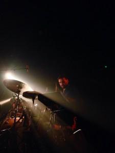 Alfredo Bravo, drummer Flying Horseman, 25 november 2015, Handelsbeurs Gent