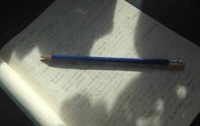SEO-blog, schrijf ik met potlood in schrift