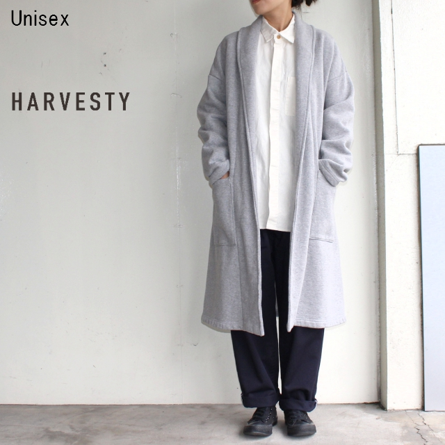 HARVESTY ガウンコート GOWN COAT A51604 (GRAY)