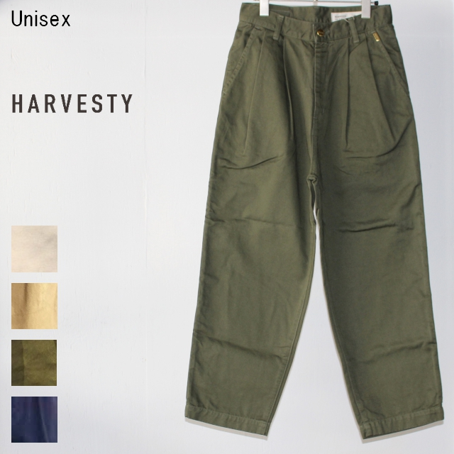 HARVESTY エッグタックチノパンツ EGG TUCKED PANTS A11606 (MILITARY GREEN)