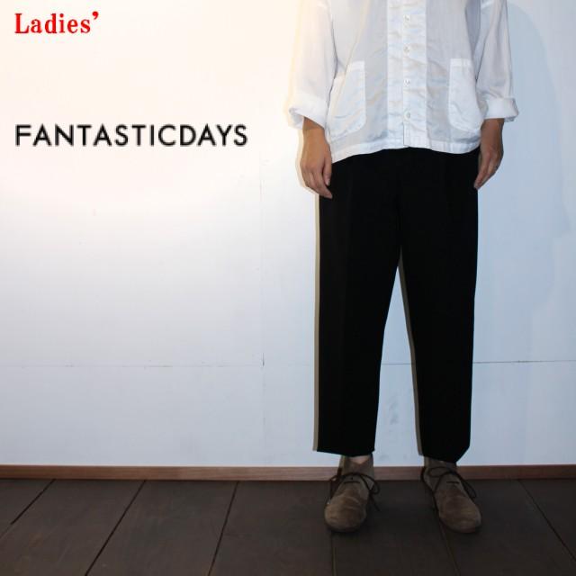 FANTASTICDAYS タックアンクルパンツ GAUCHO-63-01(BLACK)