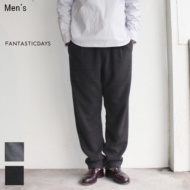 FANTASTICDAYS フリースイージーパンツ FLEECE-M-63-01 (BLACK)