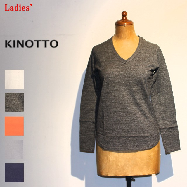 KINOTTO UネックTシャツ長袖 U-Neck T-Shirts 251C-01 (TOP CHARCOAL)