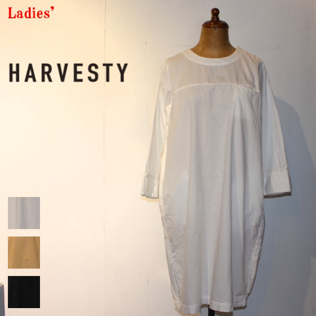 HARVESTY エッグワンピース EGG ONEPIECE A41701 (OFF WHITE)
