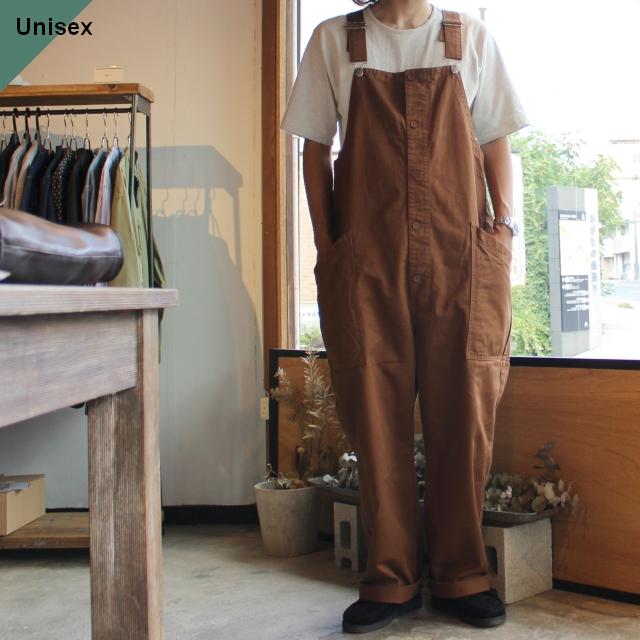HARVESTY ハーベスティ CHINO CLOTH OVERALLS チノクロスオーバーオール ブラウン A12008