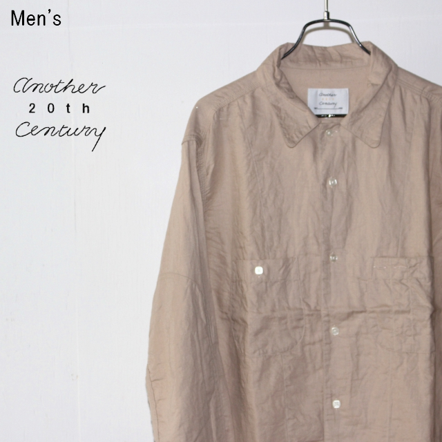 another 20th century アートワークシャツ Artwork Shirts - cotton × linen ACS-2007 (BEIGE)
