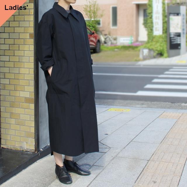THE HINOKI コットンポプリンシャツワンピース Organic cotton poplin shirt dress TH21S-21 (Midnight)