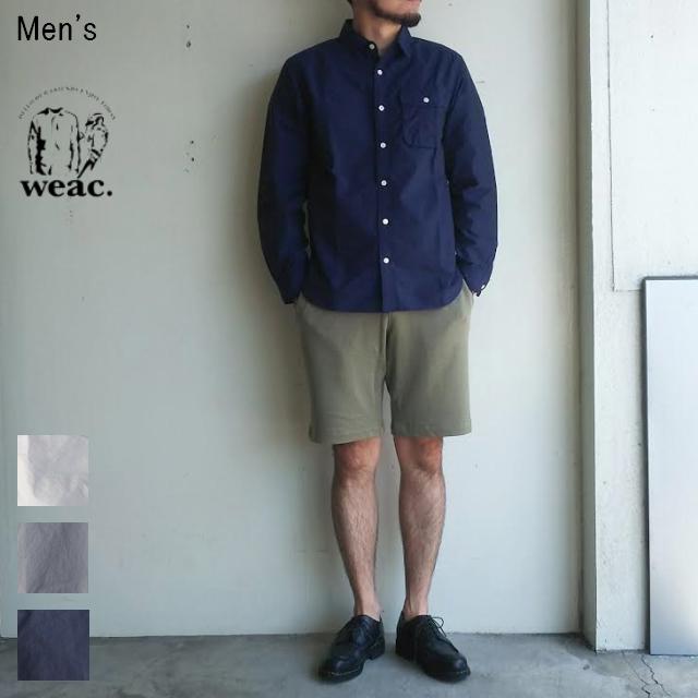 weac. GIZAコットンワークシャツ HENDER (NAVY)