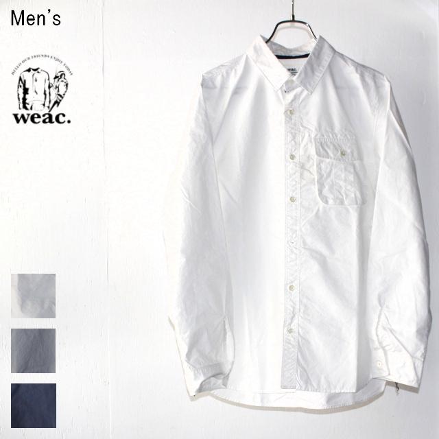 weac. GIZAコットンワークシャツ HENDER (WHITE)