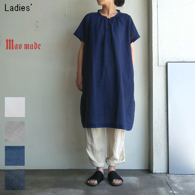 maomade コットンリネンワンピース Cotton Linen Onepiece 721309 (NAVY)