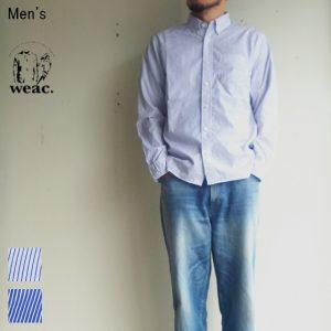 weac. GIZAコットンベーシックシャツ BASIC SHIRTS (WHITE STRIPE)