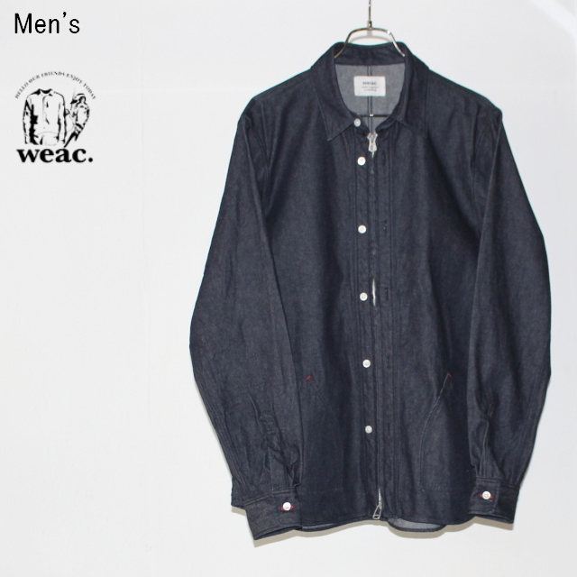 weac. デニムジップシャツ ZIP SHIRTS2 (INDIGO BLUE)