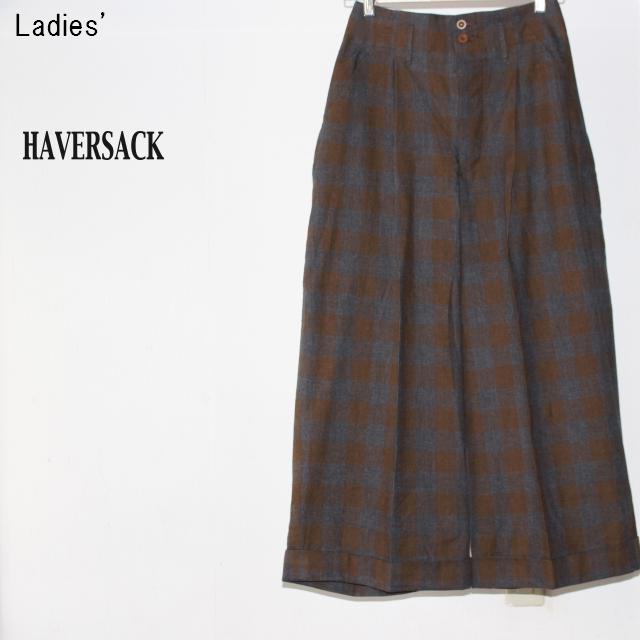 HAVERSACK ビエラチェックワイドパンツ Viyella Check Pants 361705 (Brown)