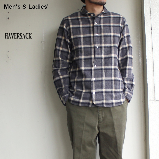 HAVERSACK 丸襟チェックシャツ BASIC SHIRTS 4212736  (BIG CHECK)