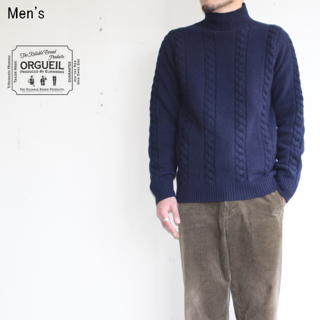 ORGUEIL ケーブルニット Cable Knit  OR-4092 (NAVY)