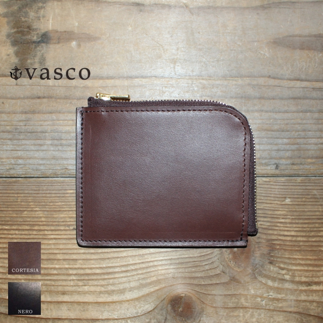 vasco レザーL字ミニウォレット LEATHER VOYAGE L-ZIPPER MINI WALLET VSC-707Z (CORTESIA)