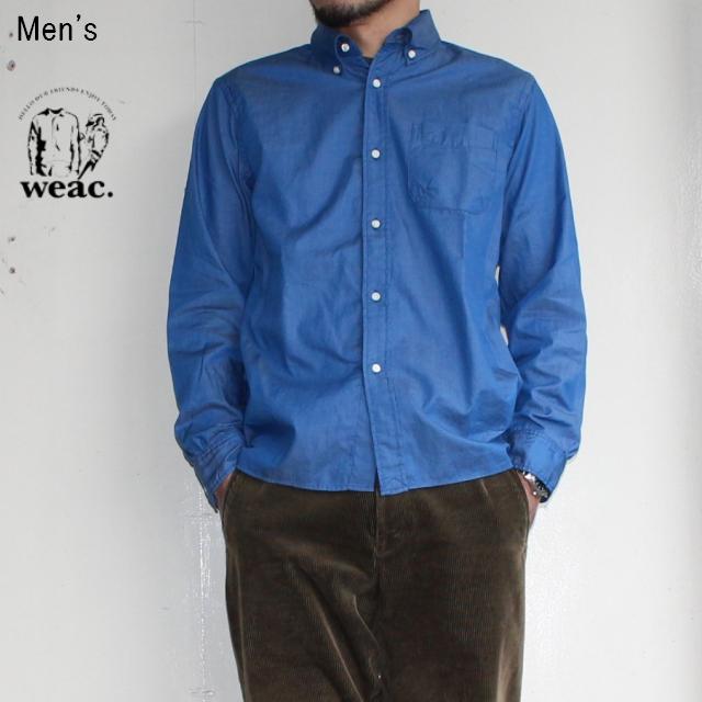 weac. ペルヴィアンコットンシャツ BASIC SHIRTS  (LIGHT BLUE)