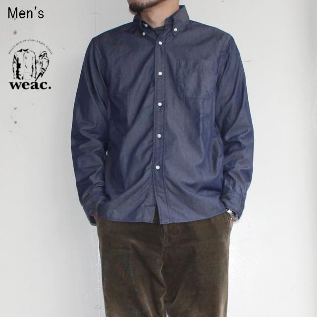 weac. ペルヴィアンコットンシャツ BASIC SHIRTS  (DARK BLUE)